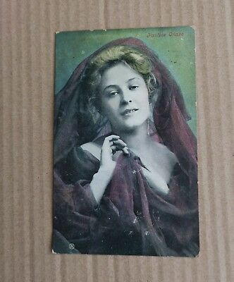 Early 1900s Glamour Post Card Miss Pauline Chase
