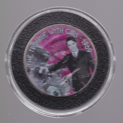Elvis Presley Trouble with Girls 1969 Colorized Coin Kennedy Half Dollar B-684