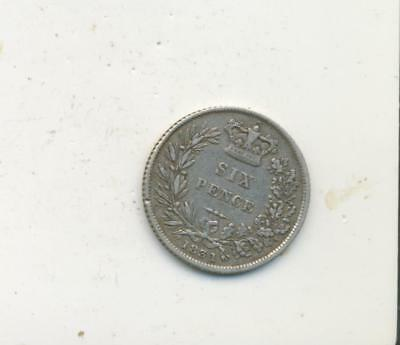Great Britain 6 sixpence  pence silver coin King William 1831