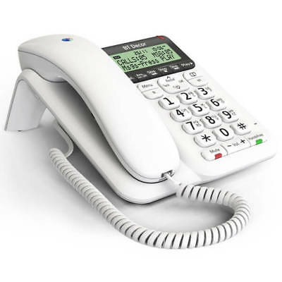 New Telstra Call Guardian 302 Corded Phone White with Block Nuisance Calls