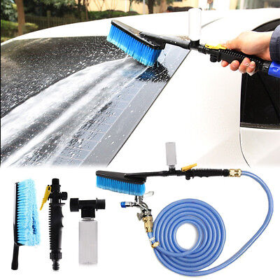 Car Wash Brush Water Spray Cleaning Tool Soft Bristle Switch Foam Bottle Kit