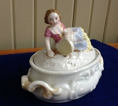Staffordshire Fairing box with Girl