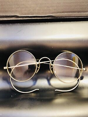Pair of Antique Vintage Glasses Eyeglasses Stamped 14k Can't Figure Out Maker