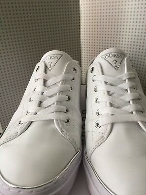 Guess  Casual Womens Shoes Us 9   White / Silver