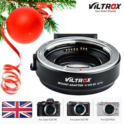 Viltrox EF-EOS M2 AF Lens Mount Adapter Ring 0.71X For Canon EF To EOS M/M2/M3