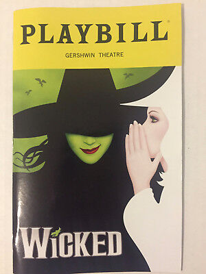 Wicked Playbill Book Theatre New York City Broadway November 2018