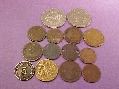 14 Different Germany Coins Some Early