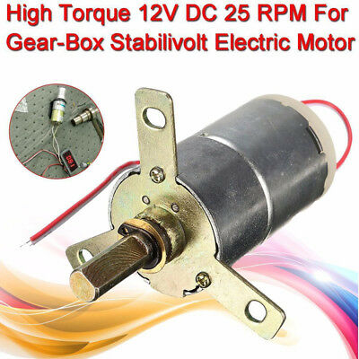 Replacement 32mm Dia 12V DC 25 RPM High Torque Gear Box Electric Motor Gearmotor