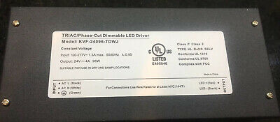 24Volt DC Triac/Phase-Cut Dimmable Led Driver 96watt UL Listed Class2 Electronic
