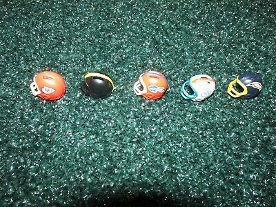 Starting Lineup lot of 5 1989 Offensive Helmets (Steelers,Dolphins,Bills,Chiefs)