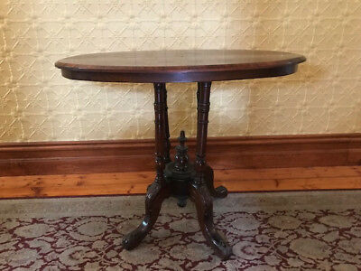 Antique Walnut oval table with inlay