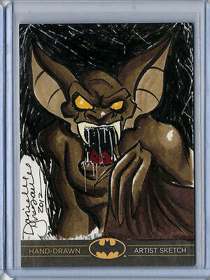 Man-Bat Batman:The Legend 2013 Cryptozoic DC Sketch Card Danielle Gransaull 1/1