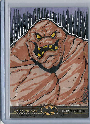 Clayface Batman: The Legend 2013 Cryptozoic DC Sketch Card Michael Kasinger 1/1