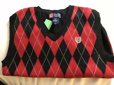 Chaps Boys Sweater Vest Size Small