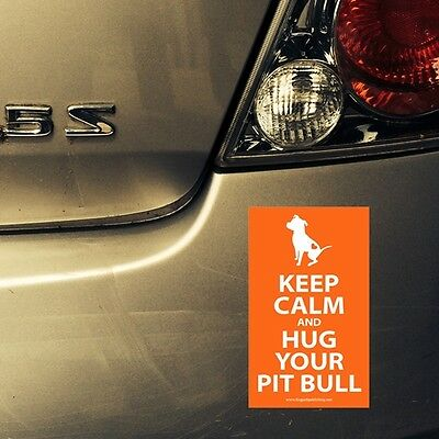Pit Bull Keep Calm Bumper Sticker and Decal - FREE SHIPPING ASAP