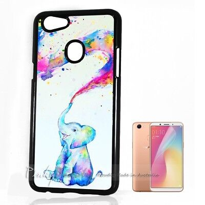 new style f6919 f1b58 ( FOR OPPO A73 ) Back Case Cover P30238 Rainbow Elephant