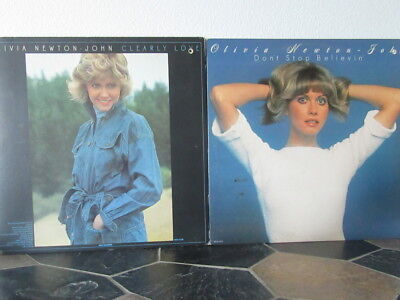 OLIVIA NEWTON-JOHN 1973 Clearly Love + 1976 Don't Stop Believin' - 2 LPs