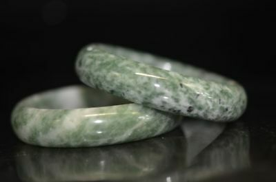 A pair  Excellent Chinese natural jade Carved beautiful bracelet    a05