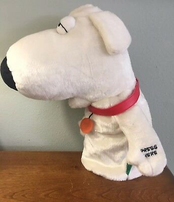 """The Family Guy Brian Talking Dog Works! Golf Club Cover Or Hand Puppet 14"""" Euc!"""