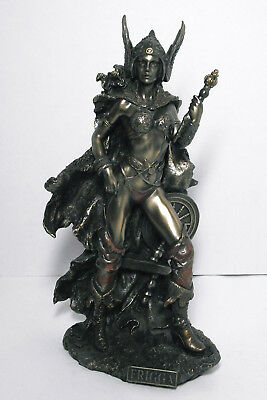 Frigga Norse God statue cold cast bronze resin