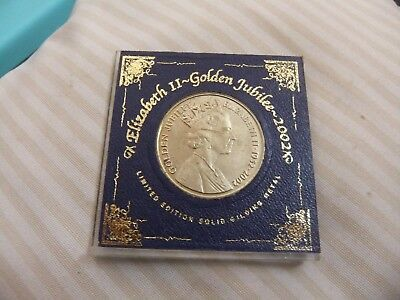 2002  golden  jubilee  er11  limited  edition  solid  gilding  metal