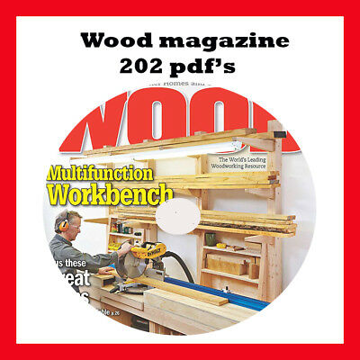 WOOD MAGAZINE - Home Woodworker Vintage Woodworking 202 PDF Issues on DVD