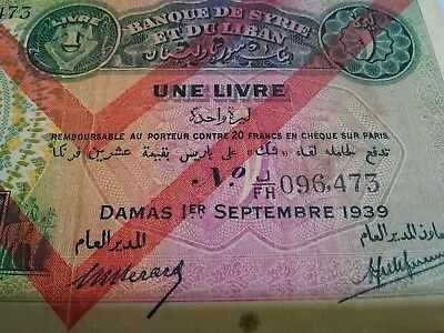 Syria - Lebanon  Banknote  1939 World Currency Paper Money