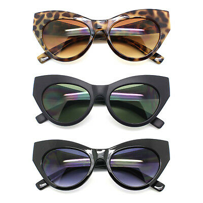 Fancy Cat Eye Women Fashion Sunglasses Plastic Frame Black Brown & Gray Tortoise