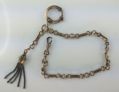 Uhrkette double silber Chatelaine Pocket watch chain Uhrenzipfel antique Silver