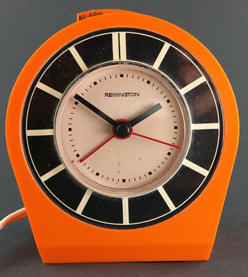REMINGTON DEKOR Wecker Alarm Clock Orange pop art space Age Design electric