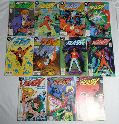 FLASH #20-30 * DC Comics Lot * 11 Comics 1987 - 20 21 22 23 24 25 26 27 28 29 30