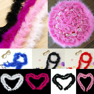 2M Fluffy Feather Boa Strip Soft Wedding Party Decor Fancy Costume Dressup Prop