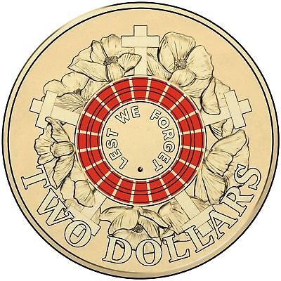 2015 Lest We Forget - Anzac $2 Coin - Ex Bag Uncirculated