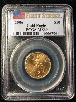 CC&C 2006 1/4 oz American Gold Eagle - PCGS MS 69 FIRST STRIKE - 10067964