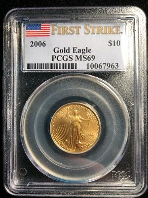 CC&C 2006 1/4 oz American Gold Eagle - PCGS MS 69 FIRST STRIKE - 10067963