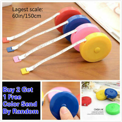 "60""/150cm Tape Measure Body Measuring Ruler Sewing Cloth Tailor Soft Flat"