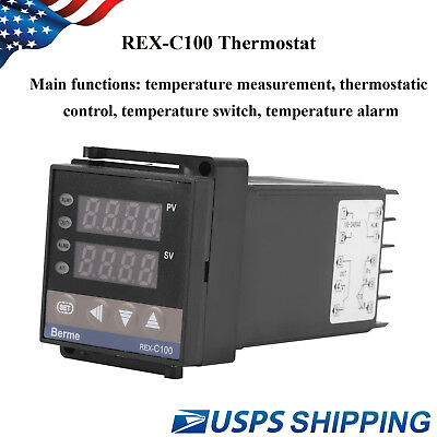 REX-C100 Digital PID Temperature Controller Thermostat RELAY output Hot Sale US