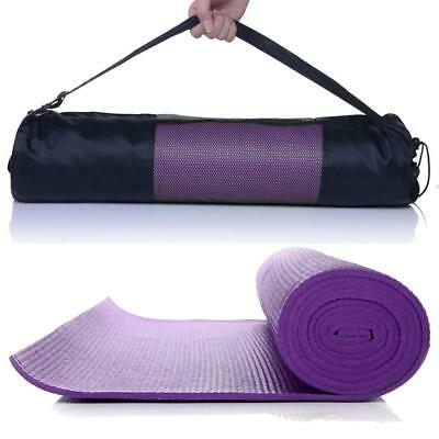 6mm Yoga Mat Thick PVC Exercise Pilates Mat Gym Physio Fitness Workout Pad & Bag