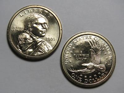 2005-D Sacagawea Native American Dollar - Uncirculated from US Mint Rolls