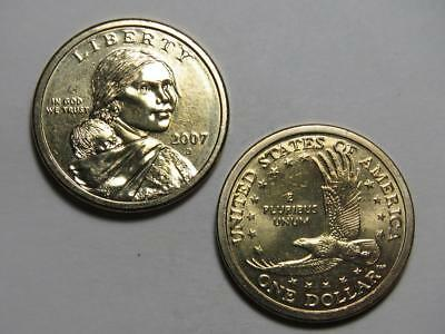 2007-D Sacagawea Native American Dollar - Uncirculated from US Mint Rolls