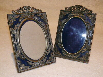PAIR OF ITALIAN Gilt Metal Vintage PHOTO FRAMES
