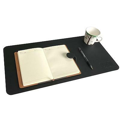 "24x12"" Desk Pad Protecter Artificial Leather Desk Mat Blotters Organizer Black"