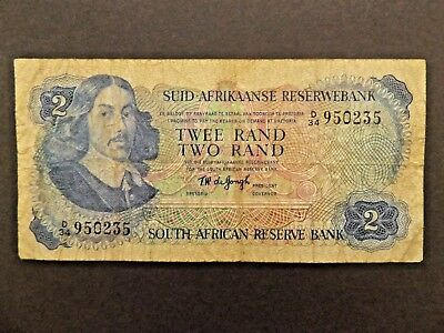 South Africa Reserve Bank Two Rand Note T W deJongh