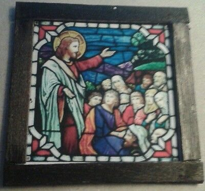 Dolls House A Religious stain glass Picture