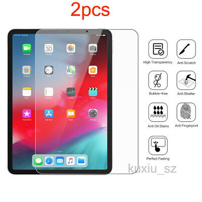 2pcs Screen Protector For Apple iPad Pro 12.9-inch 11'' 2018 Tempered Glass Film