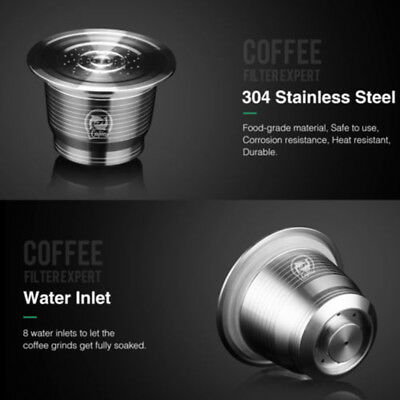 Coffee Capsule Refillable Reusable Pod For Nespresso Stainless Steel Set Durable