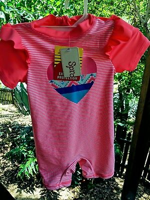 BNWT SPROUT (Myer) Size 1 Girls Swim Suit UFP 50+ Rashie Bathers Baby, Toddler