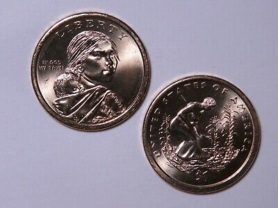 2009-D Sacagawea Native American Dollar - Uncirculated from US Mint Rolls