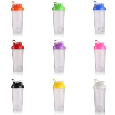 Colorful 600ml  Protein Shaker Bottle with Handle Nutrition  Protein Mix Cup