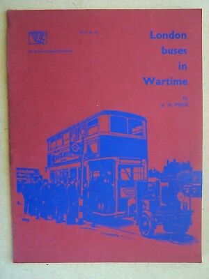 """""""london Buses In War Time."""" Road Transport Book."""